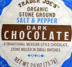 Trader Joe's Organic Stone Ground Salt & Pepper Mexican Dark Chocolate