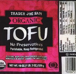 Trader Joe's Organic Tofu