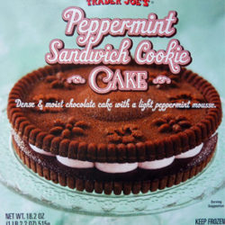 Trader Joe's Peppermint Sandwich Cookie Cake