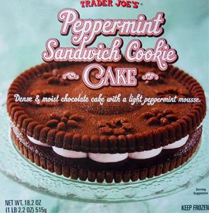 Trader Joe's Peppermint Sandwich Cookie Cake