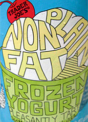 Trader Joe's Plain Nonfat Frozen Yogurt