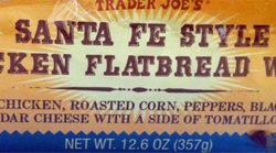 Trader Joe's Santa Fe Style Chicken Flatbread Wrap