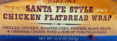 Trader Joe's Santa Fe Style Chicken Flatbread Wrap