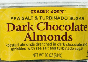 Trader Joe's Sea Salt & Turbinado Sugar Dark Chocolate Almonds