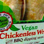 Trader Joe's Vegan Chickenless Wrap with BBQ Dipping Sauce