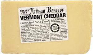Trader Joe's Artisan Reserve Vermont Cheddar