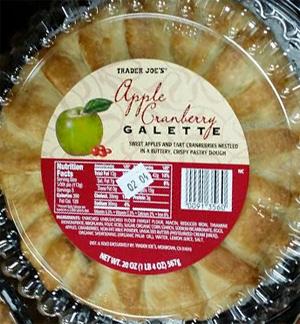 Trader Joe's Apple Cranberry Galette