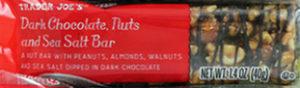 Trader Joe's Dark Chocolate, Nuts and Sea Salt Bar