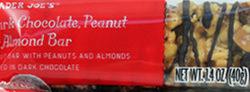 Trader Joe's Dark Chocolate Peanut & Almond Bar