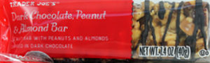 Trader Joe's Dark Chocolate Peanut & Almond Bar