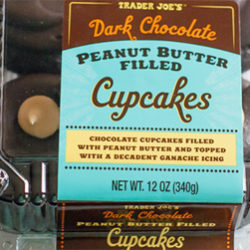 Trader Joe's Dark Chocolate Peanut Butter Filled Cupcakes