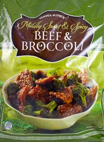 Trader Joe's Mildly Spicy Beef & Broccoli