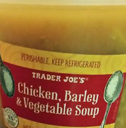 Trader Joe's Chicken, Barley & Vegetable Soup