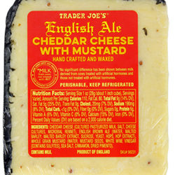 Trader Joe's English Ale Cheddar Cheese with Mustard