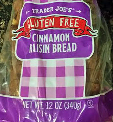 Trader Joe's Gluten-Free Cinnamon Raisin Bread