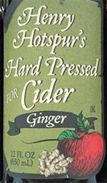Henry Hotspur's Hard Pressed for Cider with Ginger