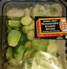 Trader Joe's Microwaveable Brussels Sprouts