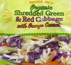 Trader Joe's Organic Shredded Green & Red Cabbage with Orange Carrots