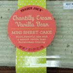 Trader Joe's Chantilly Cream Vanilla Bean Mini Sheet Cake