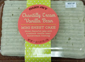 Trader Joe's Chantilly Cream Vanilla Bean Mini Sheet Cake