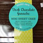 Trader Joe's Dark Chocolate Ganache Mini Sheet Cake