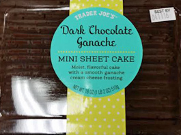 Trader Joe's Dark Chocolate Ganache Mini Sheet Cake