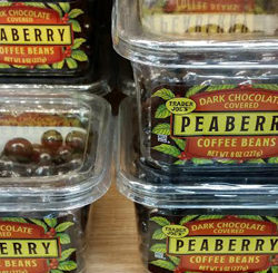 Trader Joe's Dark Chocolate Covered Peaberry Coffee Beans