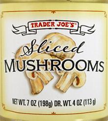 Trader Joe's Sliced Mushrooms