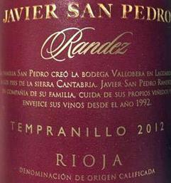 Javier San Pedro Randez Rioja Tempranillo Wine
