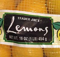 Trader Joe's Lemons