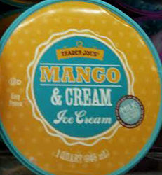 Trader Joe's Mango & Cream Ice Cream