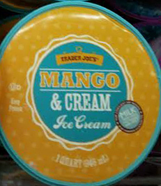Trader Joe's Mango & Cream Ice Cream