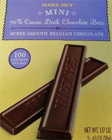 Trader Joe's Mini 70% Cacao Dark Chocolate Bars