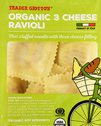 Trader Joe's Organic 3 Cheese Ravioli