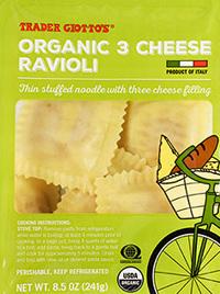 Trader Joe's Organic 3 Cheese Ravioli Reviews