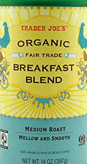 Trader Joe's Organic Fair Trade Breakfast Blend Coffee