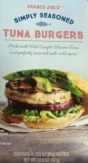 Trader Joe's Simply Seasoned Tuna Burgers
