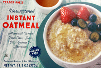 Trader Joe's Unsweetened Instant Oatmeal