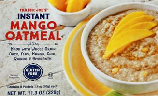 Trader Joe's Mango Instant Oatmeal