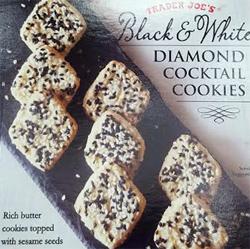 Trader Joe's Black & White Diamond Cocktail Cookies