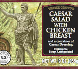 Trader Joe's Caesar Salad with Chicken Breast