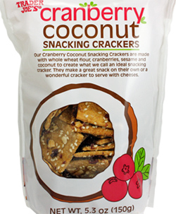 Trader Joe's Cranberry Coconut Snacking Crackers Reviews