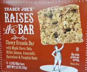 Trader Joe's Raises the Bar Maple Granola Bar