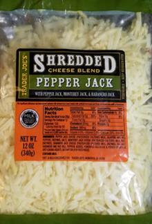 Trader Joe's Shredded Pepper Jack Cheese Blend