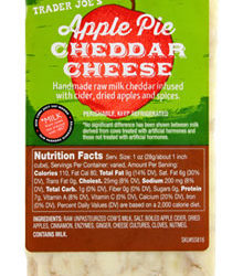 Trader Joe's Apple Pie Cheddar Cheese
