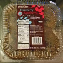 Trader Joe's Blueberry Raspberry Oat Bran Muffins