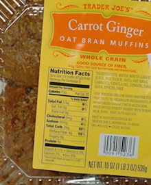 Trader Joe's Carrot Ginger Oat Bran Muffins