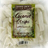 Trader Joe's Lightly Sweetened Coconut Strips