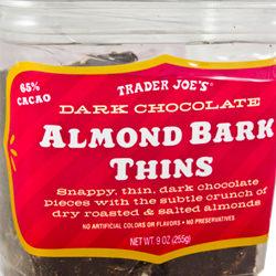 Trader Joe's Dark Chocolate Almond Bark Thins