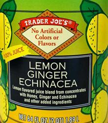 Trader Joe's Lemon Ginger Echinacea Juice